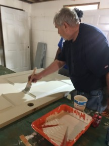 Rich, our construction manager, supervises the painting projects.
